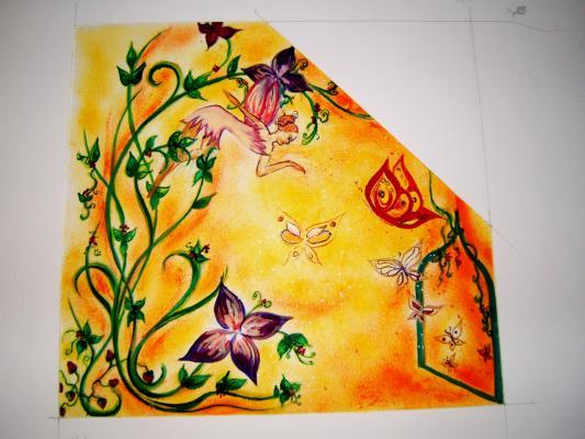 Article maquette pour peinture murale chambre enfant 1 for Peinture murale enfant