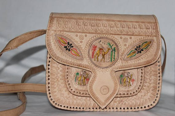 Moroccan leather bag, Boho design moroccan handbags | leather handbags