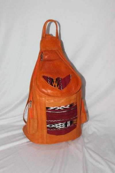 Bohemian backpack, leather bag, Moroccan leather backpack, leather backpack , bohemian bag