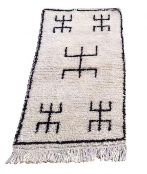 Beni Ourain Style Rug design Moroccan Tifinagh