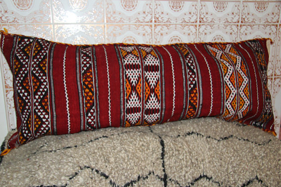 berber pillow red large