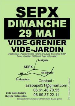 Sepx Vide-Grenier/Vide-jardin