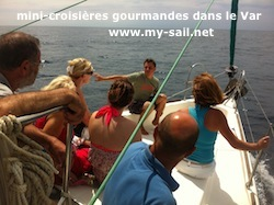 mini-croisi�re gourmande en bateau voilier dans le Var