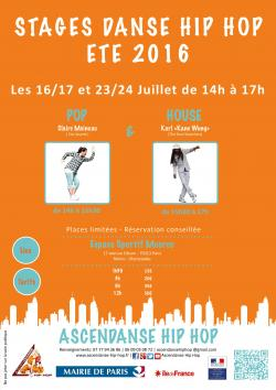 Stages d'�t� d'AscEnDanse Hip Hop