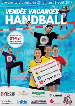 Été 2017, stage Handball près du Puy du Fou Vendée (85)