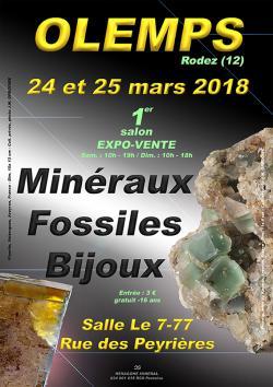 1er SALON MINERAUX FOSSILES BIJOUX de OLEMPS - AVEYRON - OCCITANIE - FRANCE