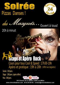Soirée des Masqués, Pizzas et Toutes Danses avec Stage de Rock associé