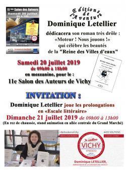 La normande Dominique Letellier invitée à 2 événements à Vichy les 20 et 21 juillet 2019