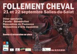 Follement Cheval 8° éd. 2019, 21 et 22 septembre à Salies-du-Salat (31260)