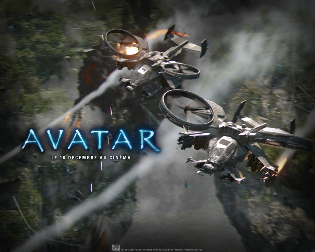 Wallpaper AVATAR combats aeriens helicoptere