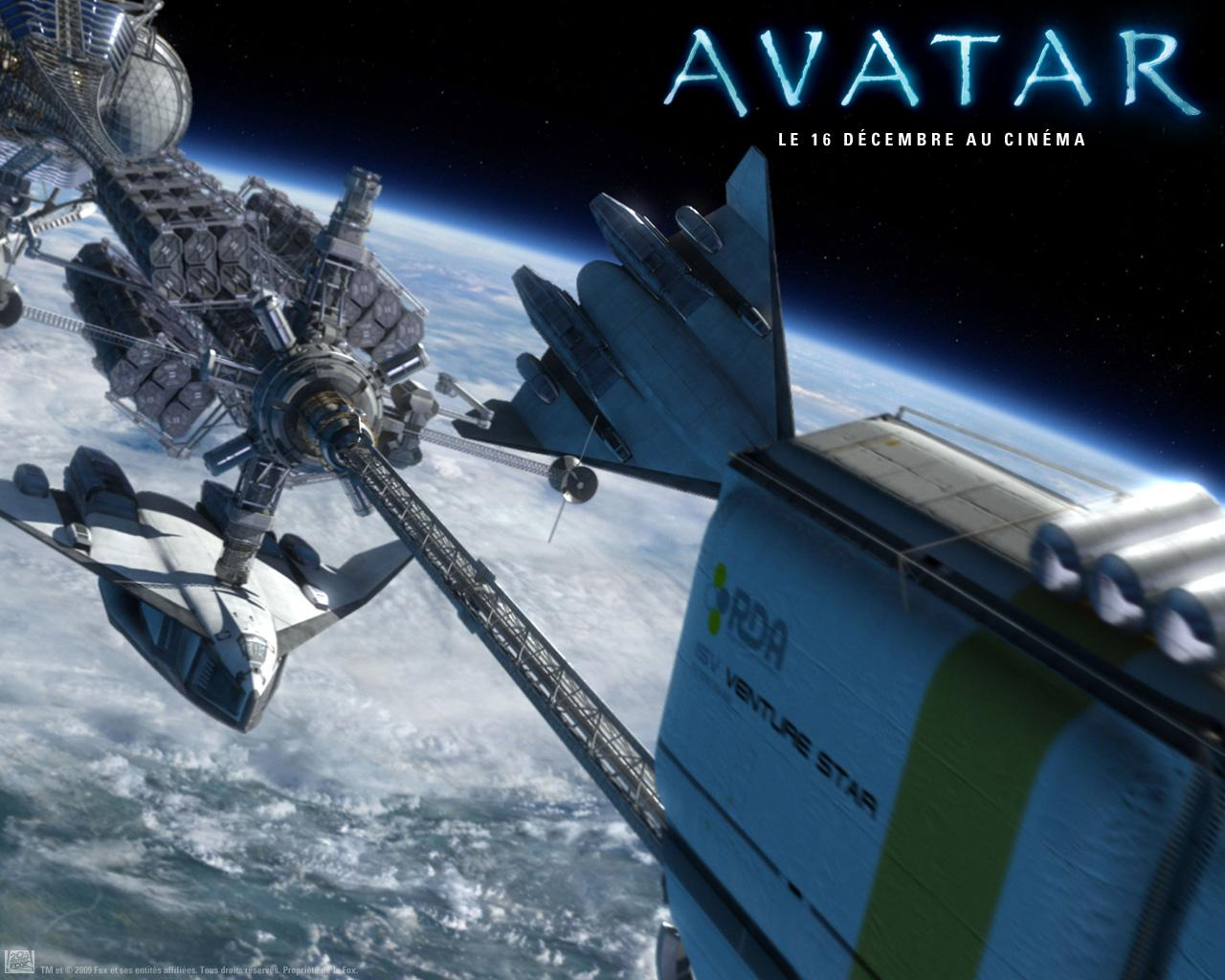 Wallpaper AVATAR navettes station spatiale