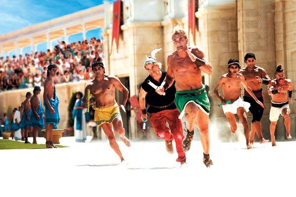 Wallpaper Asterix aux Jeux Olympiques Clovis Cornillac et Jérôme Le Banner