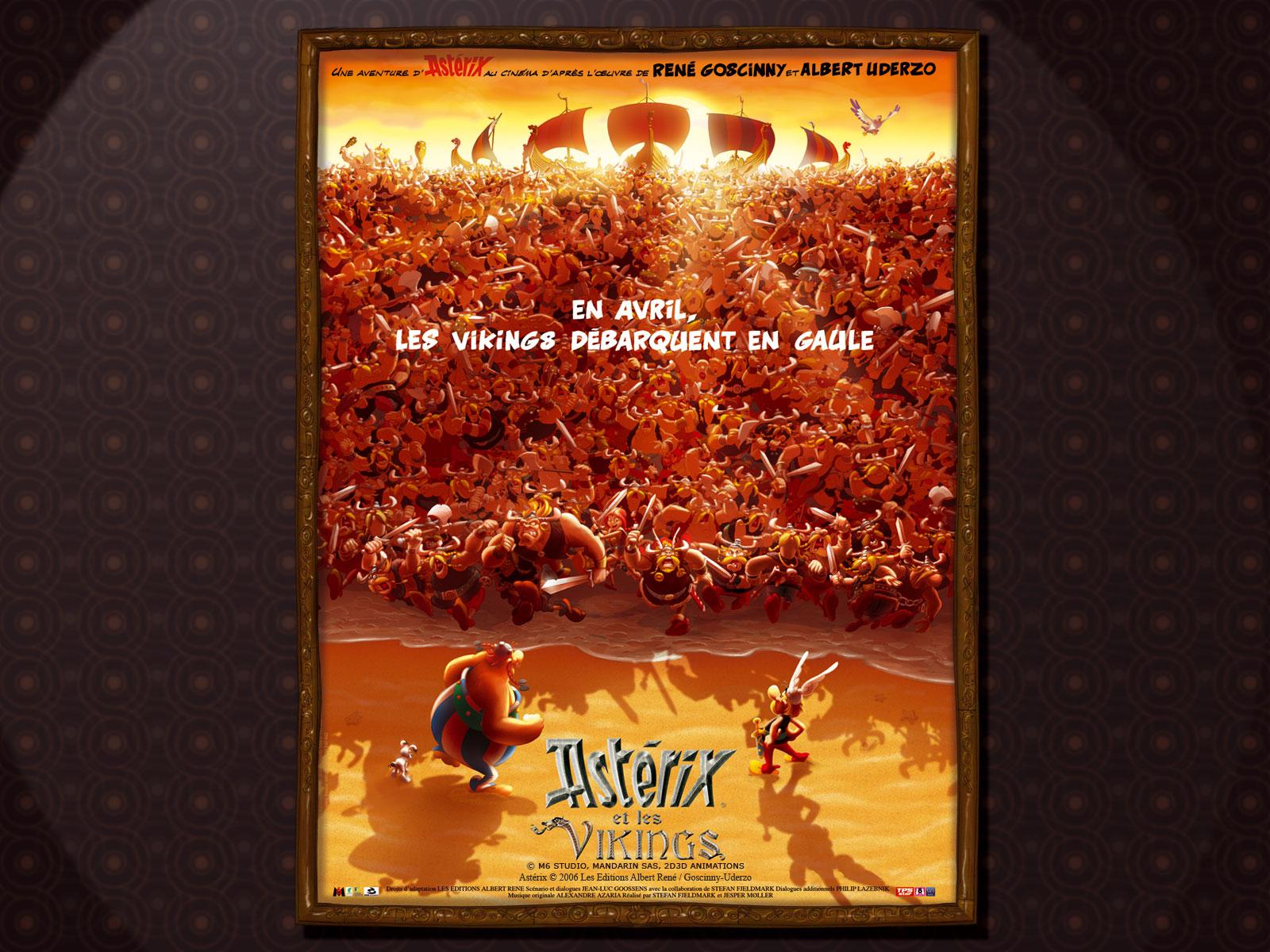 Wallpaper Astérix et les Vikings bataille