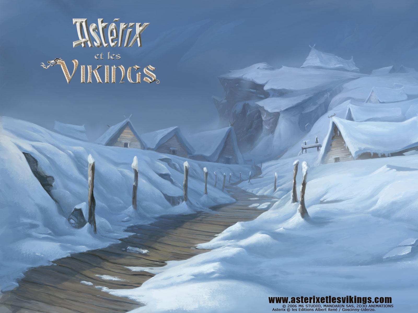 Wallpaper neige Astérix et les Vikings