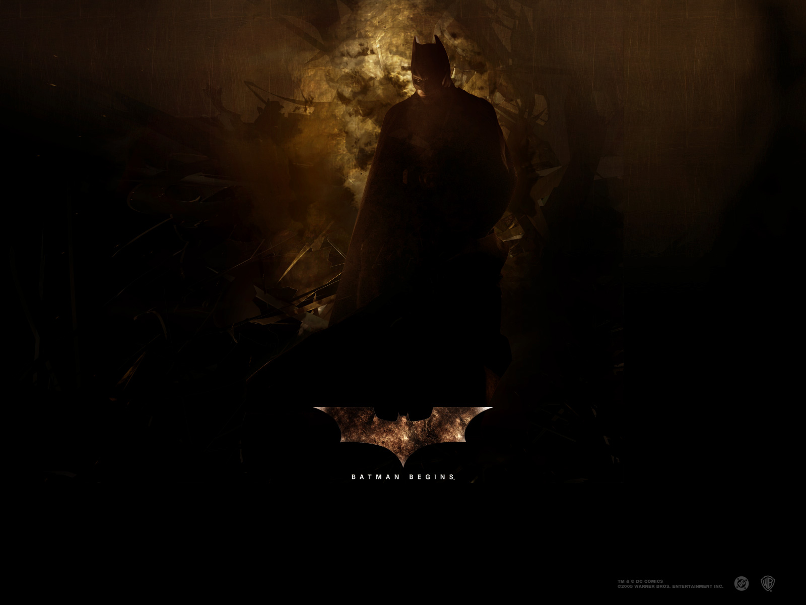 Wallpaper Bruce Wayne Batman begins