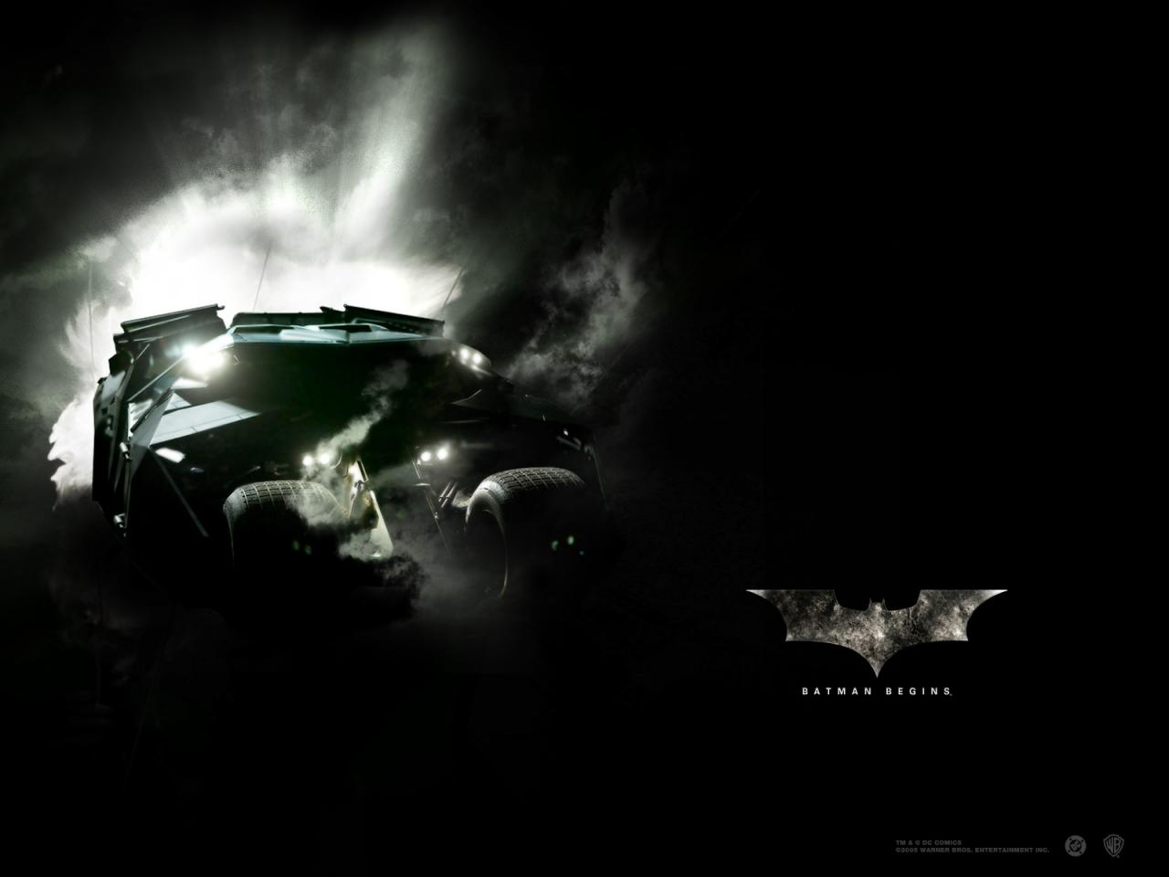 Wallpaper Batman begins Batmobil