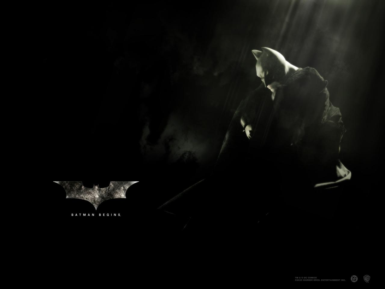 Wallpaper Batman begins Bruce Wayne