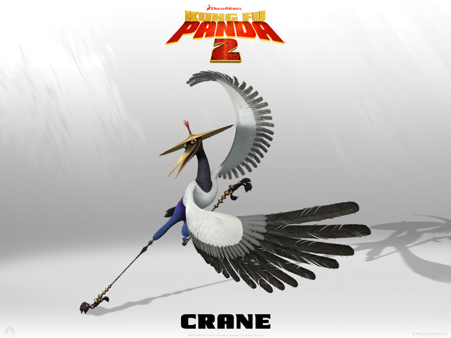 Wallpaper Kung Fu PANDA 2 Crane Cinema Video