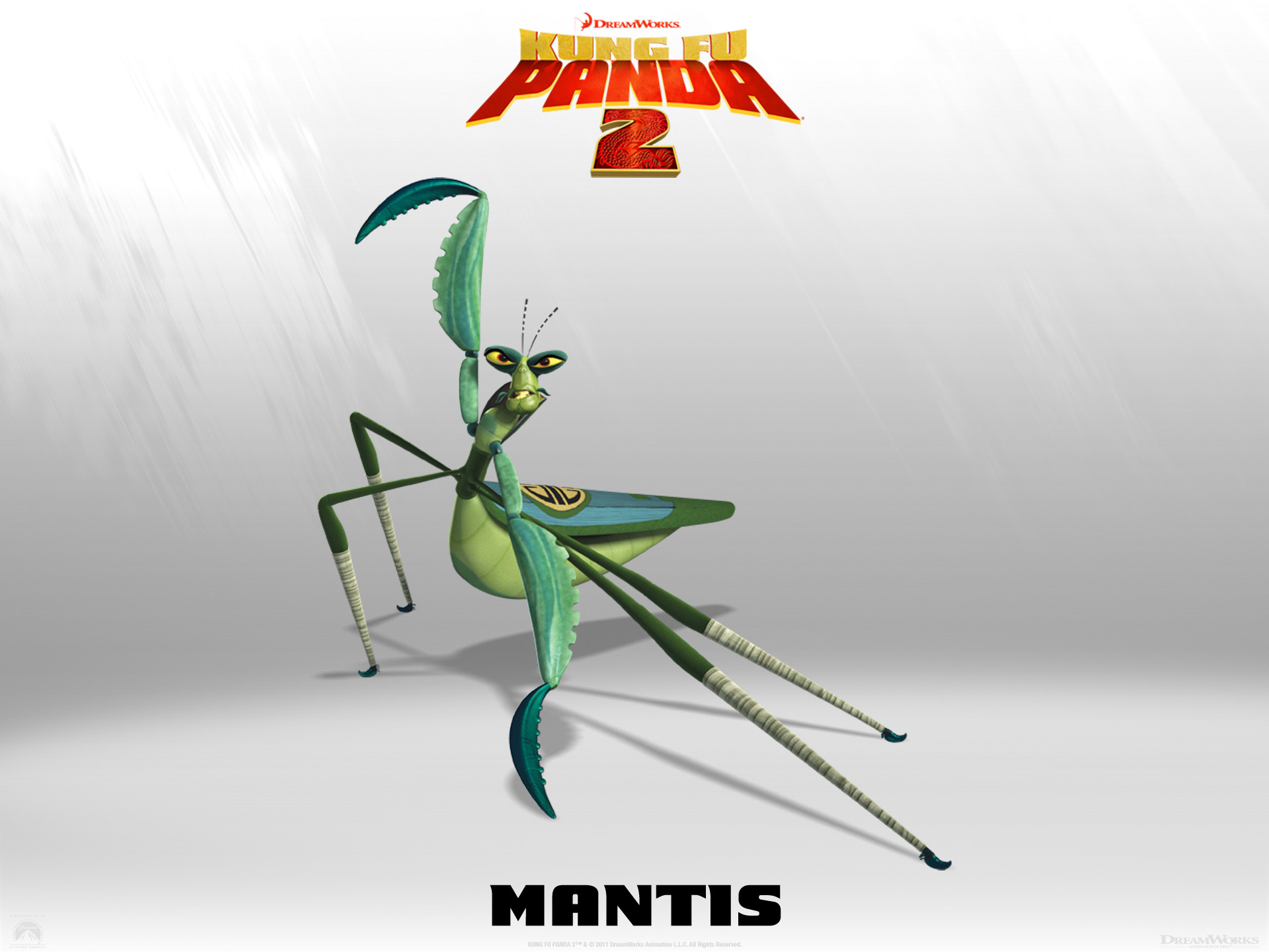 Wallpaper Kung Fu PANDA 2 Mantis Cinema Video