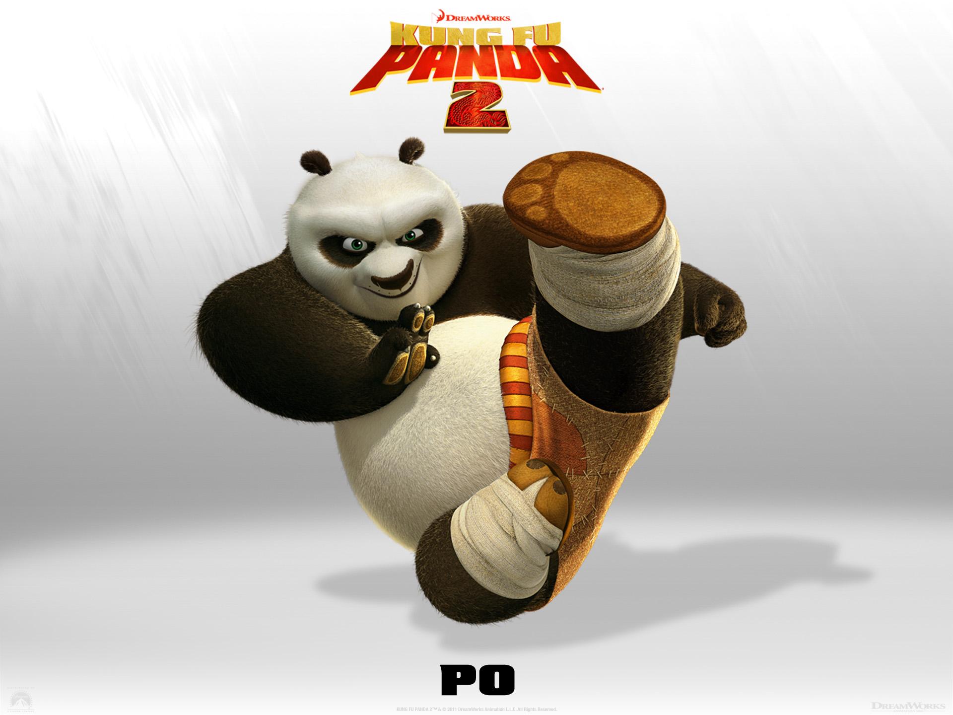 Wallpaper Kung Fu PANDA 2 PO Cinema Video