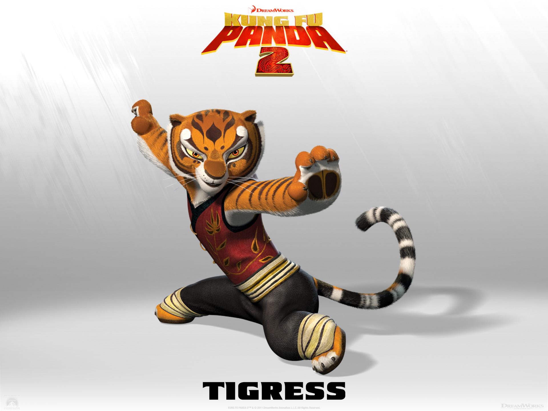 Wallpaper Kung Fu PANDA 2 Tigress Cinema Video