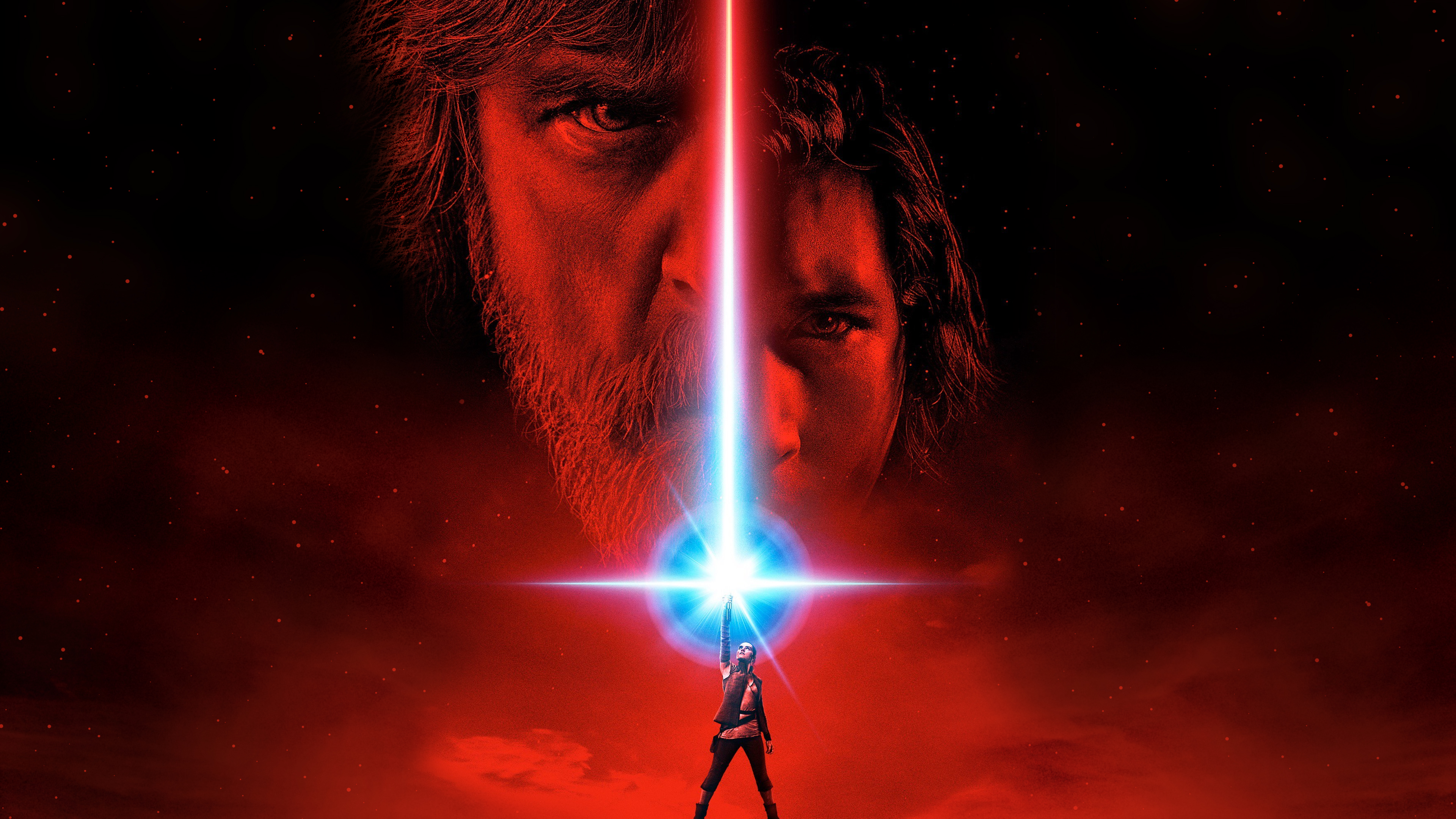 Wallpaper Star Wars 8 Affiche Luc et Kylo Cinema Video