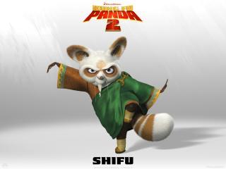 Wallpaper Kung Fu PANDA 2 Shifu Cinema Video
