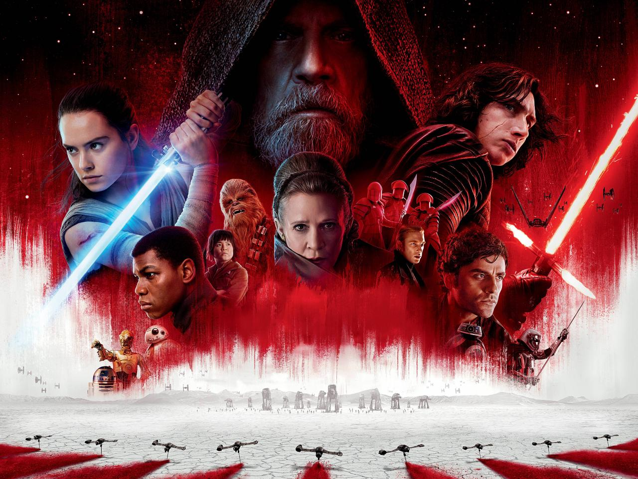 Wallpaper Star Wars 8  Affiche Luke Skywalker Cinema Video