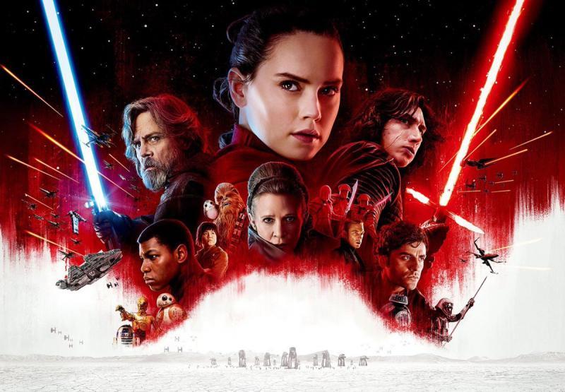 Wallpaper Star Wars 8  Affiche Rey Cinema Video