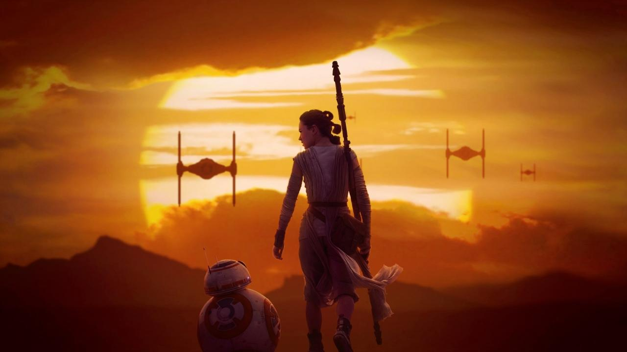Wallpaper Star Wars 8  Rey &  BB-8 Cinema Video
