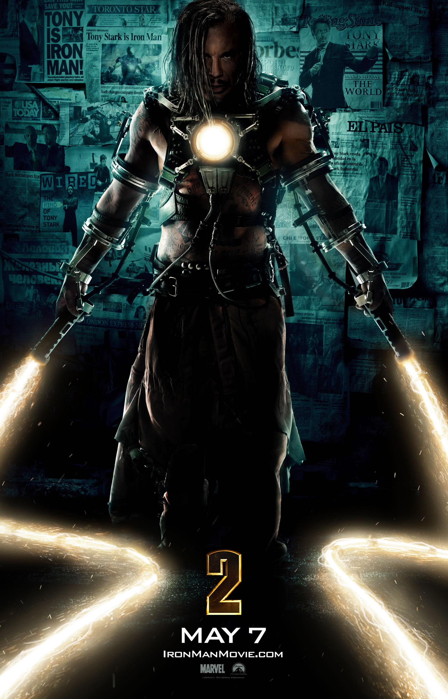 Wallpaper Affiche Iron Man 2 Ivan Vanko Iron Man