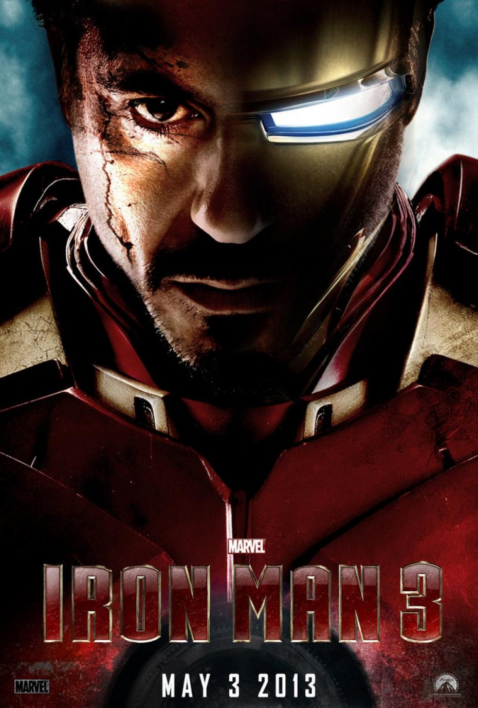 Wallpaper Affiche Iron Man 3 portrait Iron Man