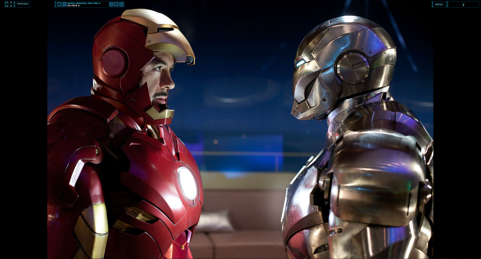 Wallpaper Iron Man 2 Tony Stark VS James Rhodes Iron Man