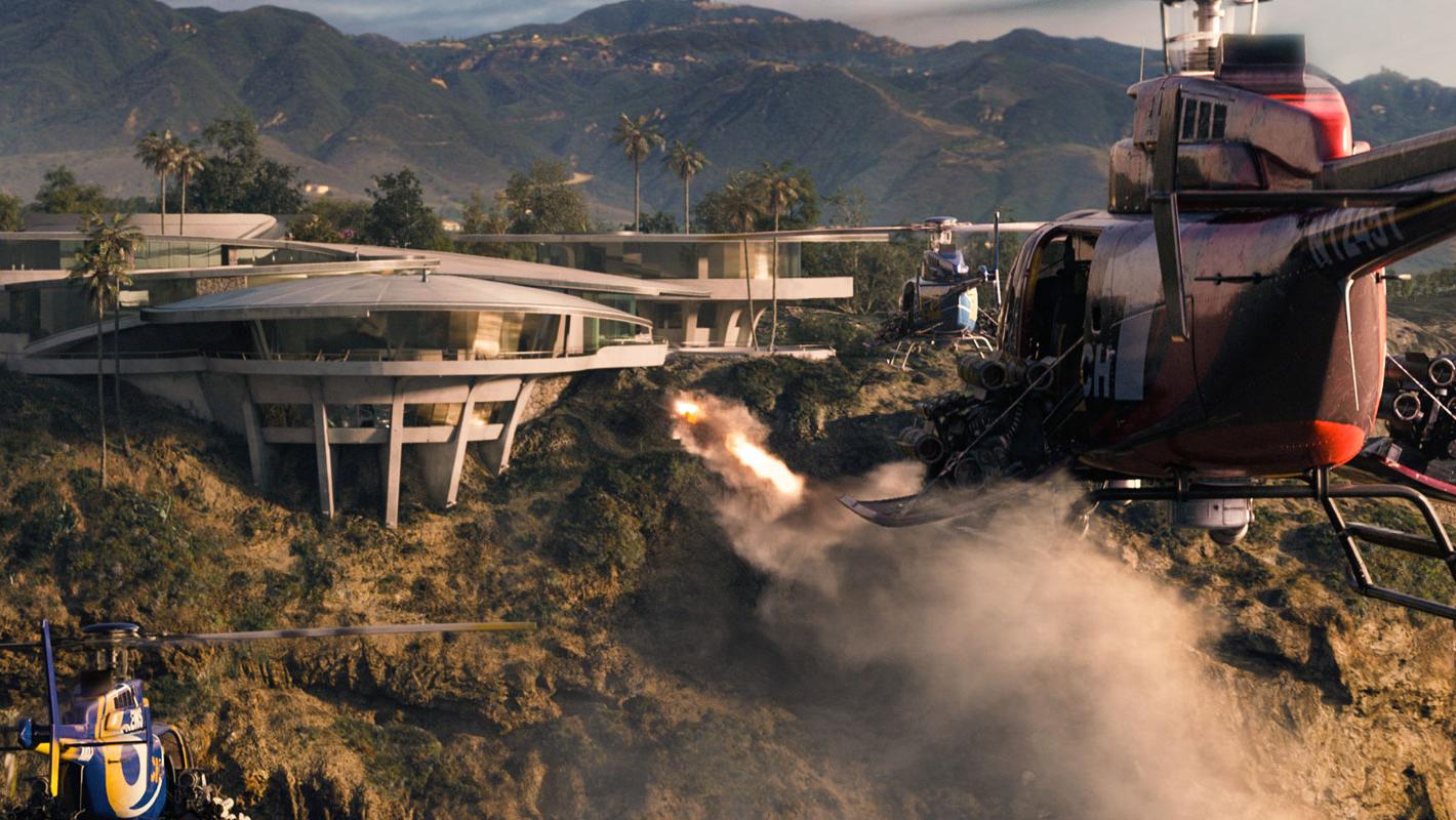 Wallpaper Iron Man 3 helicopteres Iron Man