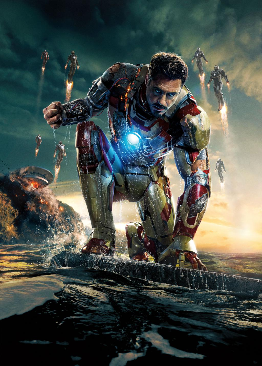 Wallpaper Affiche Iron Man 3 sur l eau Iron Man