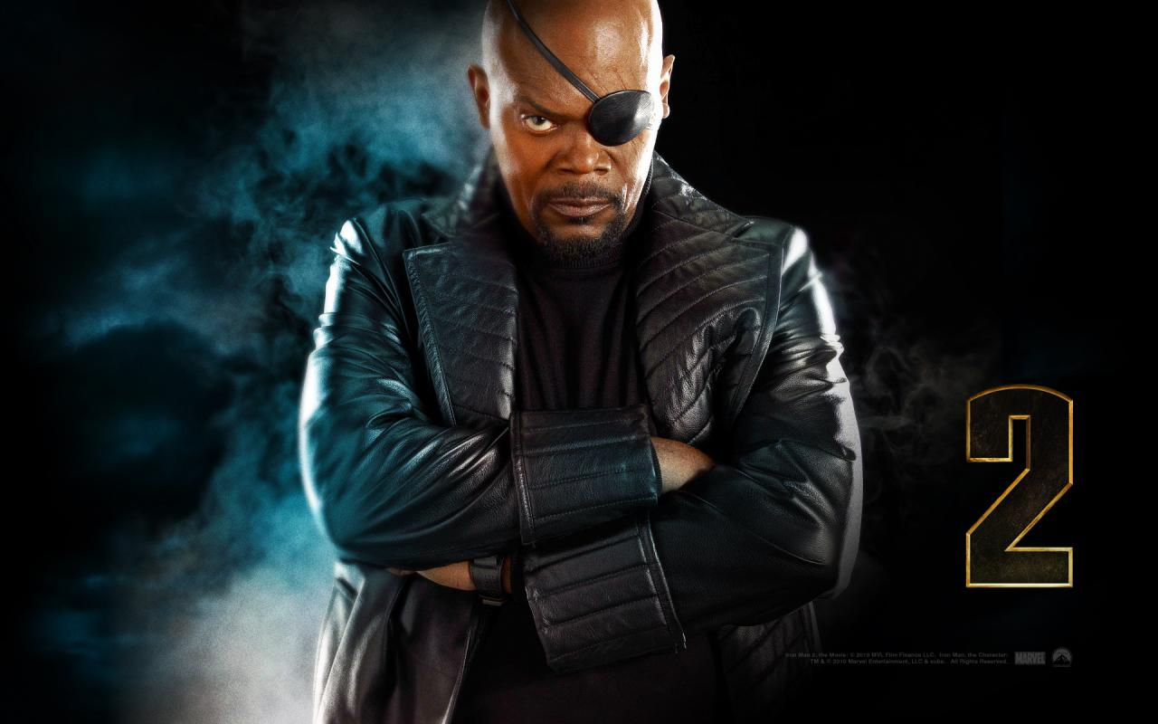 Wallpaper Iron Man 2 Nick Fury Iron Man