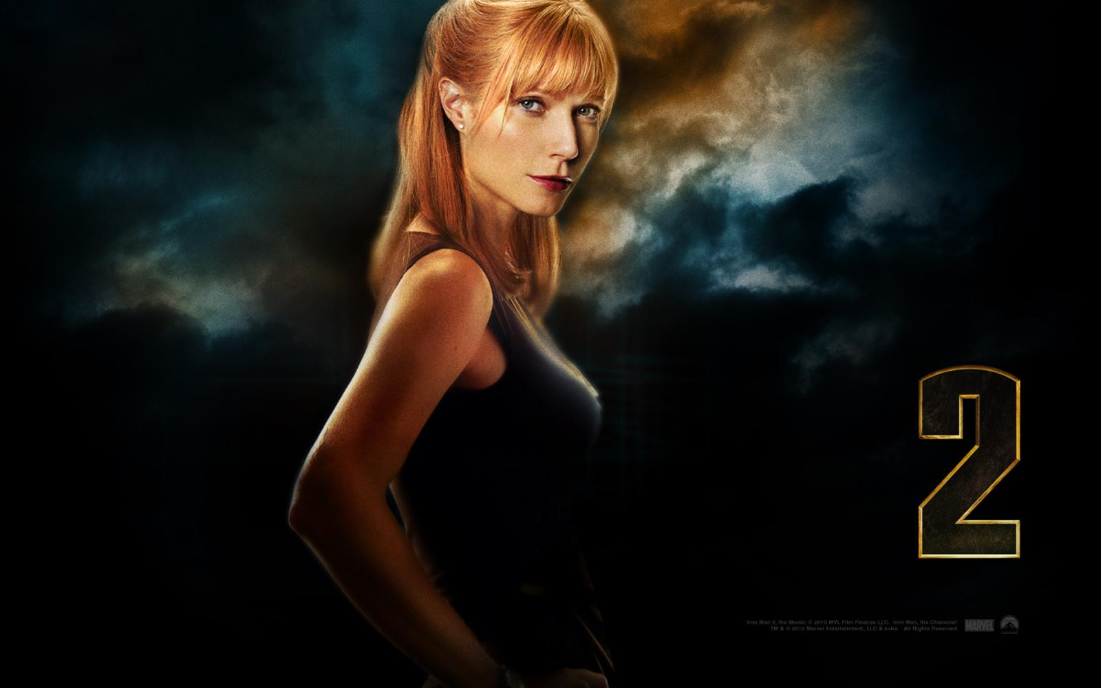 Wallpaper Iron Man 2 Pepper Potts Iron Man