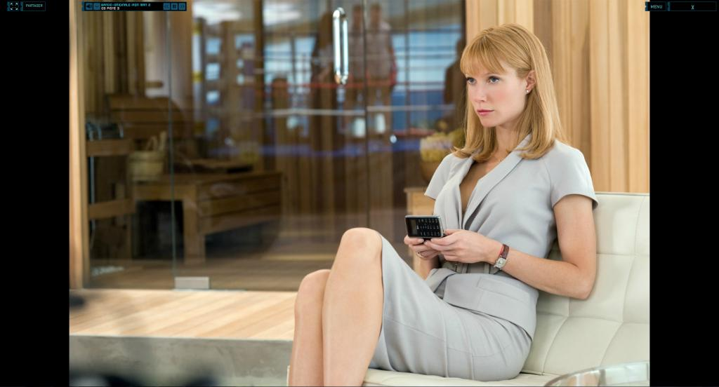 Wallpaper Iron Man 2 Pepper Potts assise Iron Man