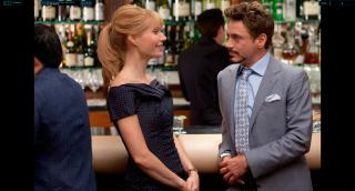 Wallpaper Iron Man 2 Pepper Potts et Tony-Stark Iron Man
