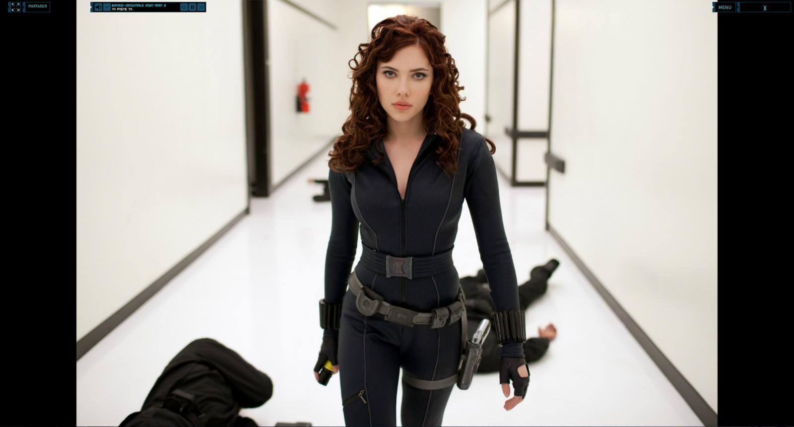 Wallpaper Iron Man 2 Scarlett Johansson Iron Man