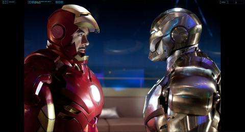 Wallpaper Iron Man 2 Tony Stark VS James Rhodes Iron Man