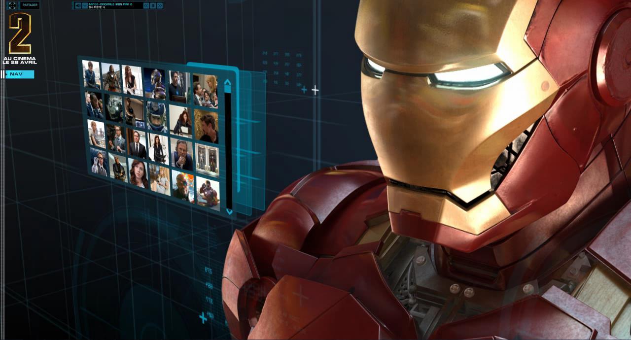 Wallpaper Iron Man 2 gros plan Iron Man
