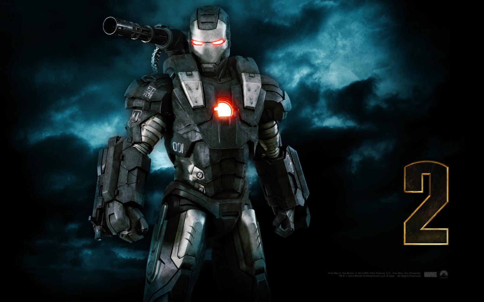 Wallpaper Iron Man 2 lieutenant-colonel James Rhodes Iron Man