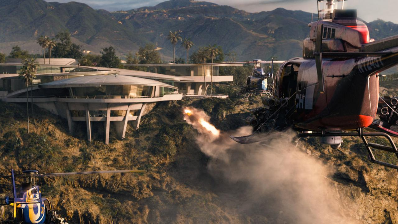Wallpaper Iron Man 3 helicopteres Iron Man