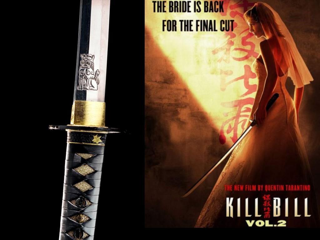 Wallpaper Kill Bill katana bride
