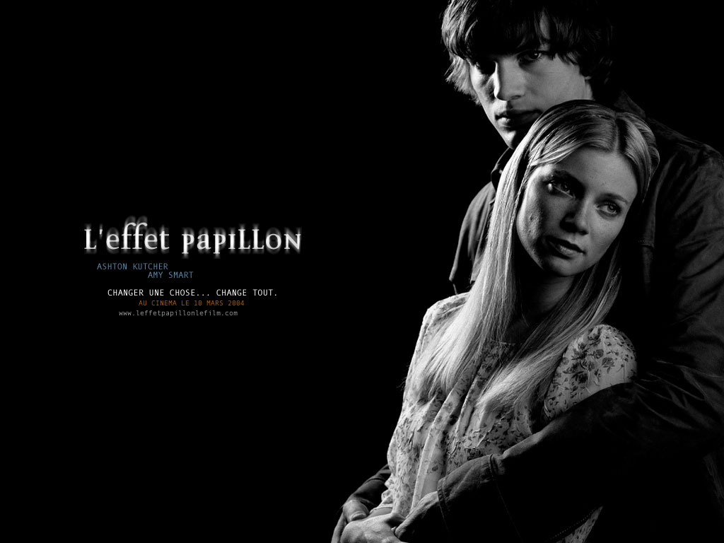 Wallpaper L'effet papillon Ashton Kutcher & Amy Smart