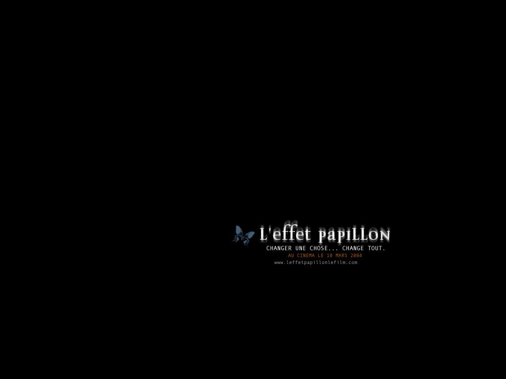 Wallpaper Titre Film L'effet papillon