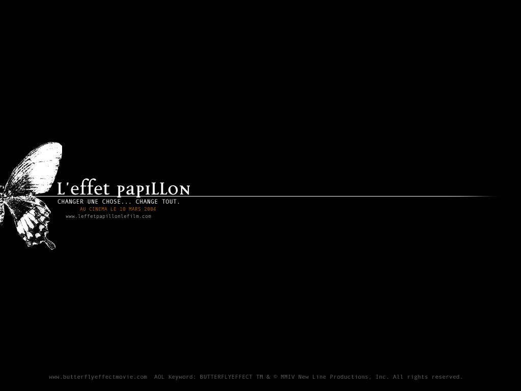 Wallpaper Titre film L'effet papillon