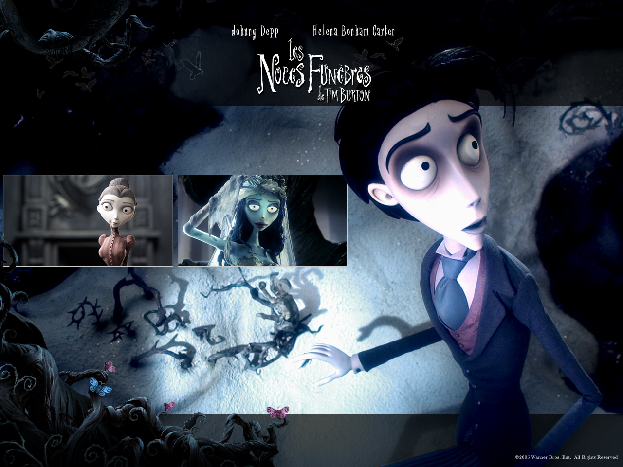 Wallpaper LES NOCES FUNEBRES de TIM BURTON Johnny Depp