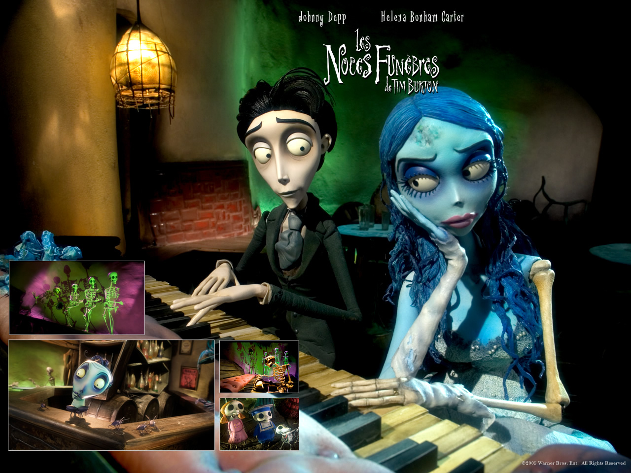 Wallpaper LES NOCES FUNEBRES de TIM BURTON Piano